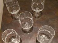 5 Weingläser aus Bleikristall - Niestetal