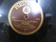 Alte Parlophon Schellackplatte, Symphonie in H - Moll / Schubert, Unvollendete - Zeuthen
