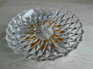 Bleikristall Glas Kabarett 3-geteilt Servierschale Schale rund 21 cm Snackschale Retro Vintage 3,- - Flensburg