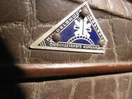 Antiker Reisekoffer 1930 / Koffer aus Vulkanfiber / Koffer Haessler Kindelbrück - Zeuthen
