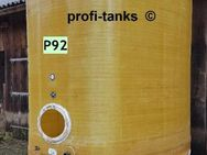 P92 gebrauchter 7.000 L Polyestertank GFK-Tank Juno-Tank Lagerbehälter Wassertank Regenauffangtank Flüssigfuttertank Melassetank Molketank Gülletank - Nordhorn