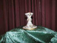 Porzellan Leuchter Prunkdekor / Weinblätter + Trauben Golddekor / 1815 - 1860 - Zeuthen