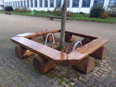 Relaxbank 1,6m breit, Sinnesbank Sonnenliege Wellenbank Waldsofa Saunaliege - Wadern