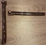2 x Schreibtisch Metallschienen mit Rollen 300 mm 35 kg belastbar