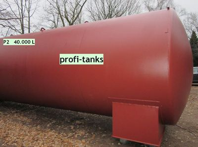P2 gebrauchter 40.000 L Stahltank doppelwandig gebraucht AHL/ASL DIN6616 D oberirdisch oder als Erdtank - Nordhorn