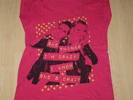 Mädchen Kurzarm T-Shirt Girl Teen Kinder Kurzarmshirt Crazy Glitzer Baumwolle pink Gr. 158/164 NEU - Sonneberg