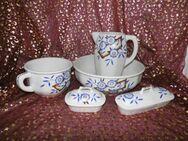 Antikes Waschset 5tlg. / Schönes Keramik Toilettenset / A.M.C Made in Belgium - Zeuthen