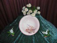 Wunderschöne Obstschale Rosendekor / Runde Keramik Schale / Tiefer Teller 32 cm - Zeuthen