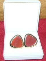 Manschettenknöpfe mit rotem Stein