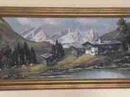 Gerahmtes Landschafts-Ölgemälde - Hürth
