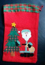 Weihnachten Nikolaus Sack Weihnachtssack Beutel Filz ca. 3 x 21, 5 cm