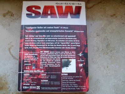 Saw Collector's Edition 2 DVDs+ Audio-CD Östereich Uncut Version+Grabstein des Todes - Kassel Unterneustadt
