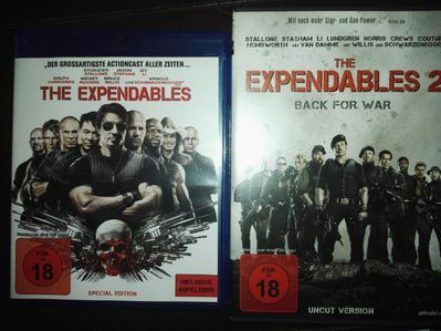 BluRay DVD The Expendables 1+2 (uncut) - Leck
