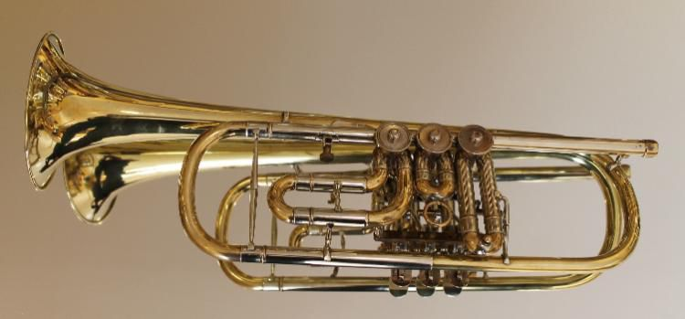 Deutsche Drehventil - Konzert - Trompete in B inkl. Koffer - Hagenburg