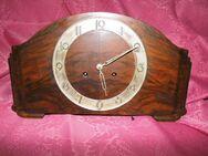 Antike Buffetuhr / alte Kaminuhr 1950 / Holzuhr / Uhr mit Halbstundenschlagwerk - Zeuthen