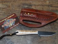 "Buckaroo knife mit ""quick draw"" Leather-Sheath K144 - Ratingen"