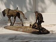 Statur Skulptur Bronze Pferd Pflug Acker Bauer Alt Antik Kunst 6kg - Rathenow