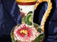 Rustikale Keramik / Steingutvase in bäuerlichem Stil - Niederfischbach