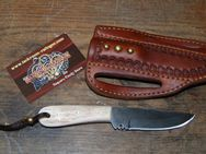 "Buckaroo knife mit ""quick draw"" Leather-Sheath K141 - Ratingen"