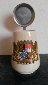 Bierkrug Krug Bayern mit Deckel