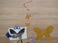 10 versch. Schmetterlinge, mit Klammer, Spiegelfolie, Teelicht - Bad Berka