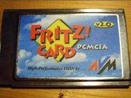 Fritzcard für Notebooks. Für den PCMCIA-Slot. AVM FRITZ! Card 2.0 ISDN PCMCIA ISDN-Modem. - Alsdorf (Nordrhein-Westfalen)