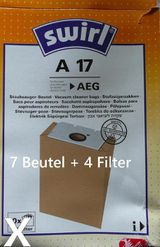 Swirl Stubsaugerbeutel A17 für AEG und Privileg