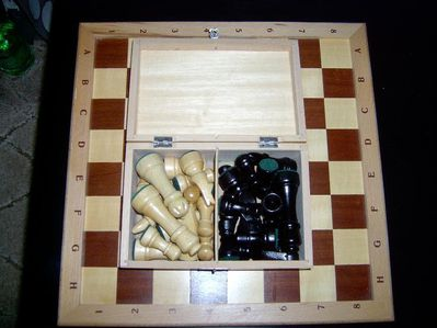 Schachspiel Braun Weiß - Wiesbaden Sonnenberg