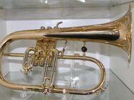 A. Courtois 154R - Flügelhorn, Neuware, Goldmessing, Trigger inkl. Koffer