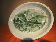 Fleischplatte FINE WARE, Englische Keramik / Vorlegeplatte histor. Stadtansicht