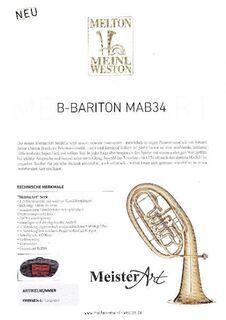 Melton MeisterArt Bariton MAB34 Goldmessing, 4 Ventile mit Trigger, Neuware / OVP - Hagenburg