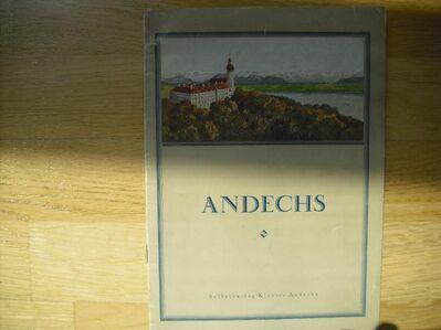 Andechs - Blick in die Wallfahrtskirche des Klosters Andechs. Broschierte Ausgabe v. 1925. Selbstverlag Kloster Andechs - Rosenheim