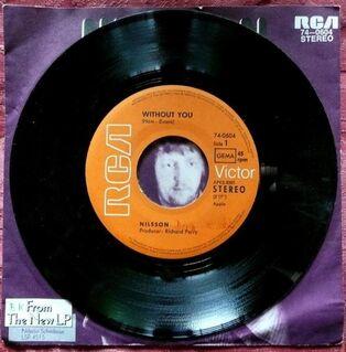 Single: Without you - Nilsson auf Vinyl - Niederfischbach