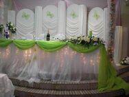Verleih Hochzeit Hintergrundwand, Gestell mit Säule. - Marsberg