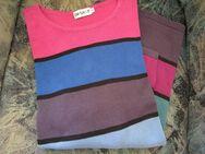 Damen Pullover (Gr.48/50) Blau, Pink ,Grün, Schwarz u.a., gestreift - Weichs