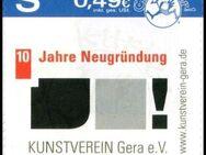 """Citykurier: MiNr. 25, 02.07.2009, """"10 Jahre Neugründung Kunstverein Gera e. V."""", Satz, postfrisch - Brandenburg (Havel)"""