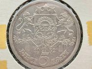 3 Silbermünzen LATVIA 5 Lati Trachtenmädchen 1931 1932 Lettland - Mannheim
