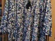 Schlupfbluse / Tunika mit Bändern halbarm (Gr.54) Blau mit Muster - Weichs