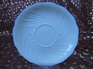 Antike Porzellan Untertasse Seltmann Weiden / Farbe. beige, Verzierung blau