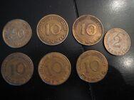7  Umlaufmünzen Pfennige Bank Deutscher Länder & Bundesrepublik Deutschland - Moers