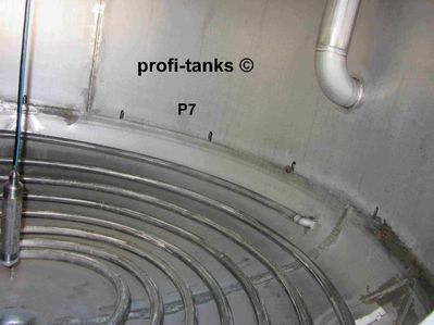 P7 gebrauchter 10.000 L Edelstahltank V2A V4A isoliert stehend Heizspirale Glycerin-Tank - Nordhorn