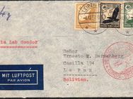 DR Luftpost-Briefumschlag nach USA Brooklyn, 1937,Lot 161