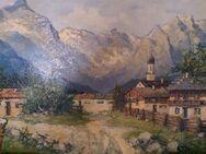 Ölgemälde von Karl Gross Sattelmair ca. 1920 - Kamen