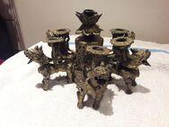 Thailändischer Kerzenhalter. Ars Mundi. Bronze. - Essen