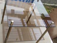 Glastisch Beistell Rauchglas Vintage 70er 36x36x40 - Spraitbach