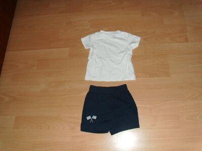 2 Teiler von Baby Club, T-Shirt und kurze Hose, Gr. 74 - Bad Harzburg