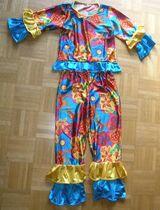 Karnevalskostüm Kostüm bunt Exotic Girl Hippy Gr. 128/140 7-10 Jahre Verkleidungskiste Fasching