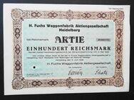H. Fuchs Waggonfabrik AG 1929 Heidelberg, Historisches Wertpapier, alte Aktie, 100 Reichsmark - Königsbach-Stein