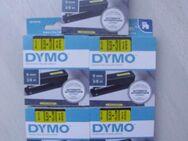 DYMO 5 Stück  Beschriftungsband D1 9mm x 7m schwarz / gelb NEU OVP - Saarbrücken