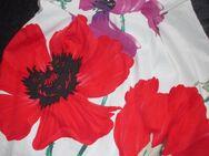 """NEU * Mohn- Blumen * Blüten * Flower- Power * Bustier * Korsagen * Cocktail * Kleid """"Coast"""" Gr. 34- 36/ XS- S * weiss * rot * - Riedlingen"""